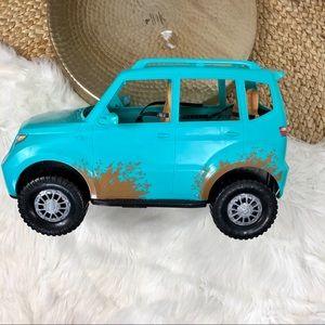 Mattel Barbie Camping Fun Jeep Teal Blue Off Road